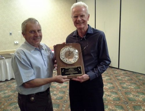 Gene Deaver receives Intermediate Exhibitor of the Year award at the All American