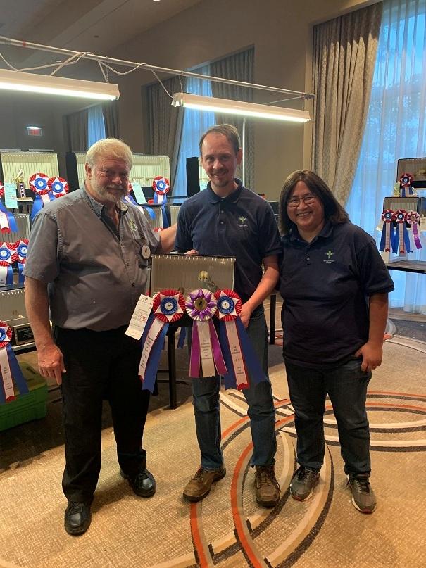 All American 2021 Intermediate Winners Daniel and Sophie Floyd with Judge Mike Dahl