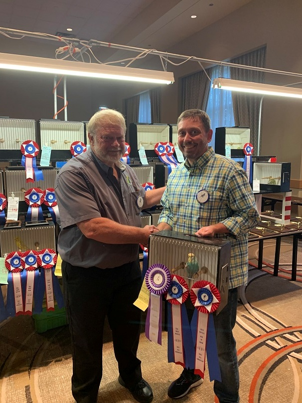 All American 2021 Best Novice Joe Haught with Judge Mike Dahl